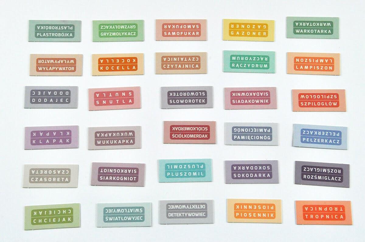Planeta Nomino - karty z nazwami obiektów
