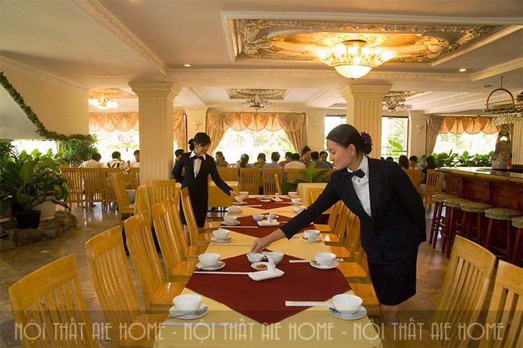 Thiết kế nhà hàng hàng phục vụ theo định suất