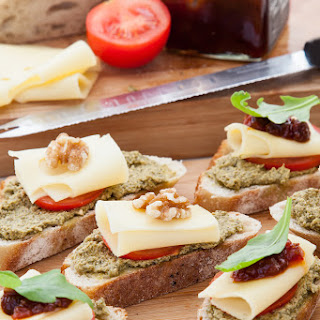 Swiss Cheese and Chutney Bites Recipe