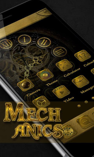 Mechanics GO Launcher Theme