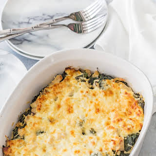 Cheesy Chicken and Spinach Bake.