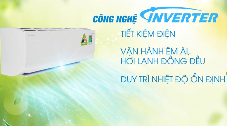 Công nghệ Inverter - Điều hòa 2 chiều Daikin Inverter 8500 BTU FTHF25RAVMV