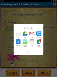 Anniversary invitation cards apps on google play screenshot image stopboris Choice Image