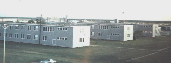 Photo: Old Wooden Barracks Check out the '62 Vette in the bottom of the picture
