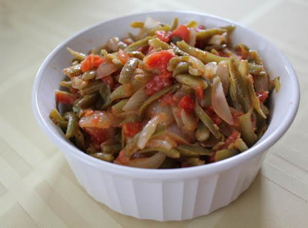 Mom's Greek String Beans Recipe