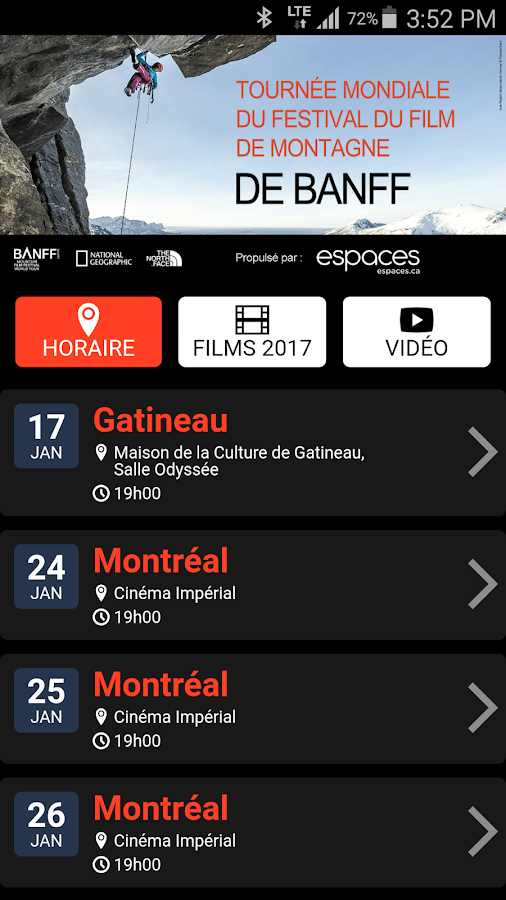 Festival Banff Québec- screenshot