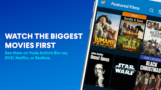 vudu - rent, buy or watch movies with no fee! screenshot 3