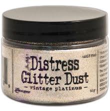 Tim Holtz Distress Glitter Dust 50gr - Vintage Platinum