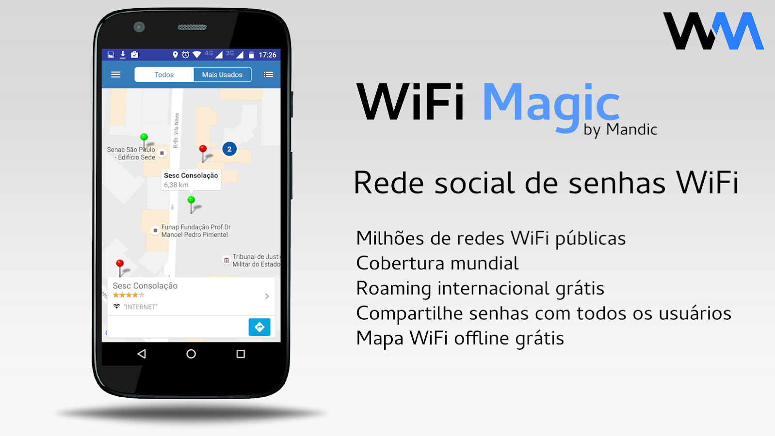 WiFi Magic by Mandic - Senhas: captura de tela
