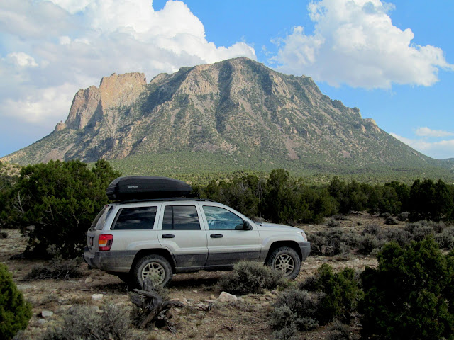 Jeep and Bull Mountain