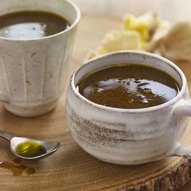 Herbed Mushroom Sipping Broth with Avocado Oil Drizzle Recipe