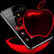 Download App Red Neon Apple Dark Theme