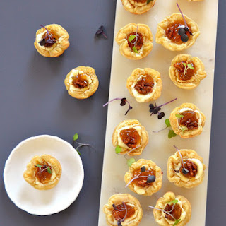 Goat Cheese Tartlets With Fig-Balsamic Compote.