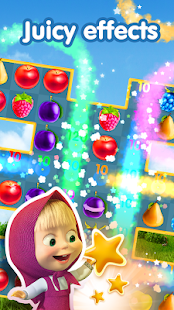 Masha and The Bear Jam Day Match 3 games for kids- screenshot thumbnail