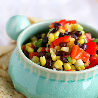 Sweet and Tangy Black Bean and Corn Salsa..