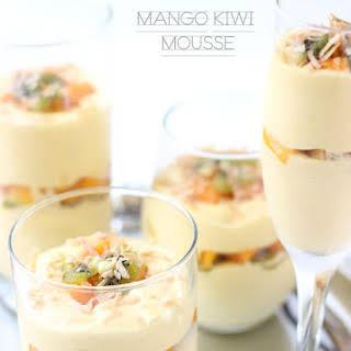 Mango Kiwi Mousse.