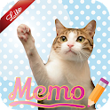 Cat Sticky Memo Notepad Lite icon
