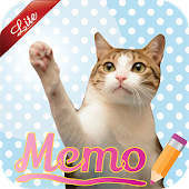 Cat Sticky Memo Notepad Lite