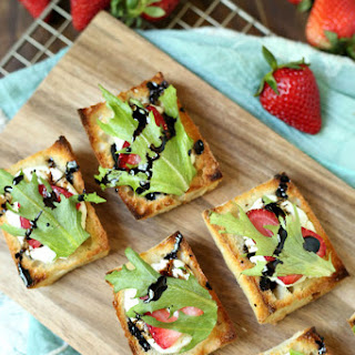 Strawberry Goat Cheese Bruschetta with Balsamic Glaze Recipe