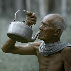 drinking by Budi Cc-line - People Portraits of Men ( indonesia, senior citizen )