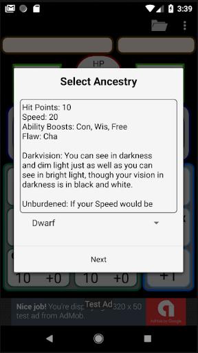 Second Edition Character Sheet 0.97f screenshots 8