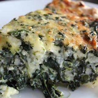 Spinach Feta Mozzarella Quiche {Recipe}