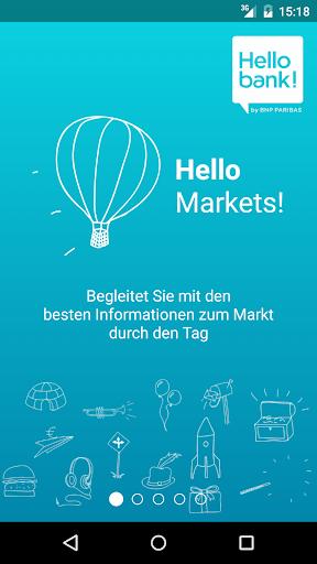 Hello bank: Hello Markets