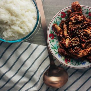Korean Crispy Fried Gochujang Pork.
