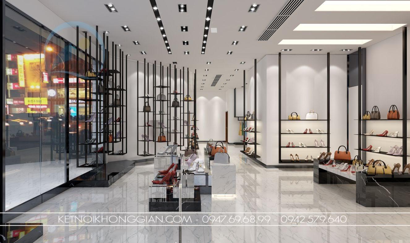 thiết kế cửa hàng giày dép hà nội