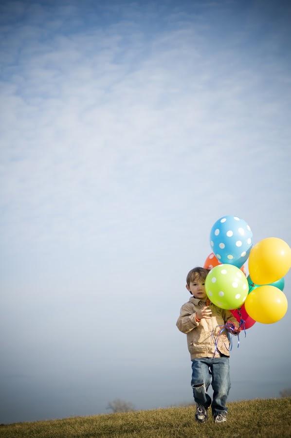 Weston by Jennifer Resemius - Babies & Children Children Candids ( sky, color, boys, children, toddlers, balloons, portrait )