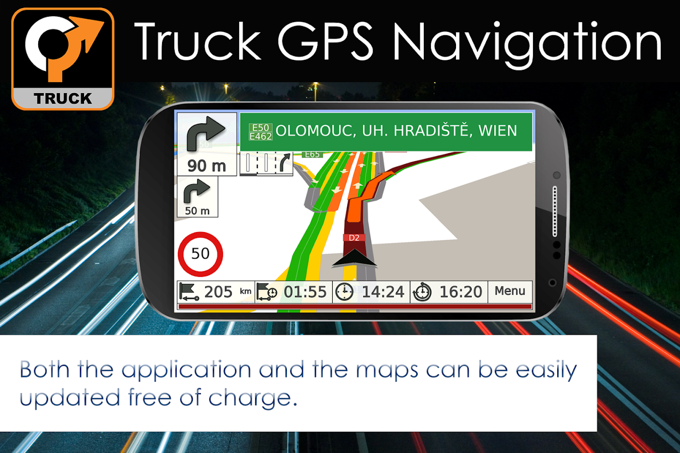 Truck GPS Navigation by Aponia- screenshot