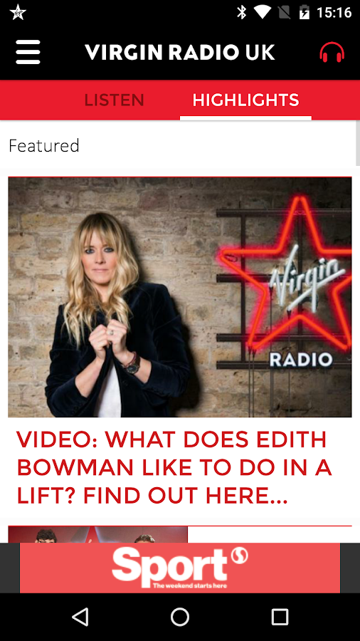 Virgin Radio UK- screenshot