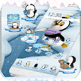 Cute Penguin Theme Ice Snow World icon