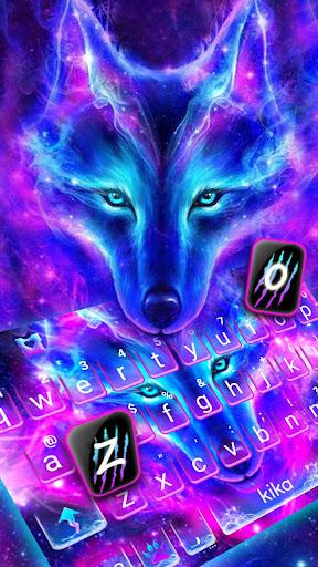 Galaxy Wild Wolf Keyboard Theme for PC