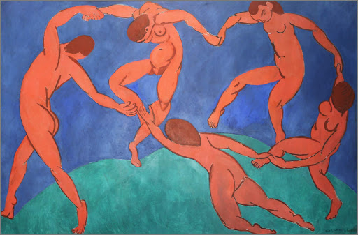 "henri-matisse-dance.jpg -  Henri Matisse's iconic ""Dance,"" an oil on canvas he completed in 1910, at the Hermitage at St. Petersburg, Russia."