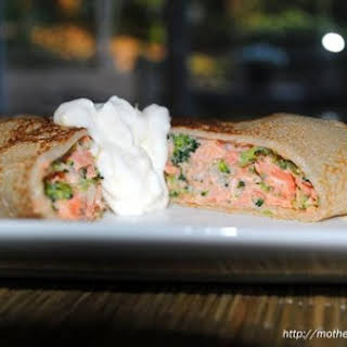 Salmon and Broccoli Crepes.