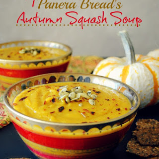 Copycat Panera Bread's Autumn Squash Soup (vegan, Paleo and gluten-free)