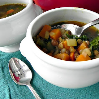 Lentil Soup with Squash and Kale Recipe