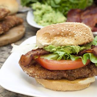 CABLT (aka Chicken, Avocado, Bacon, Lettuce, and Tomato) Sandwiches.
