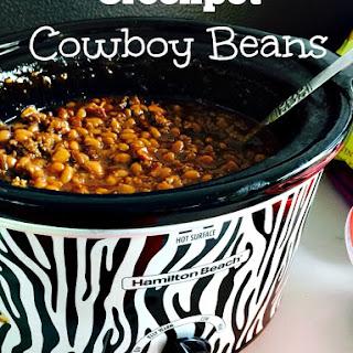 Crockpot Cowboy Beans.