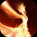Fiery lady live wallpaper icon