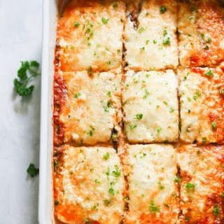 Low-carb Eggplant Lasagna.