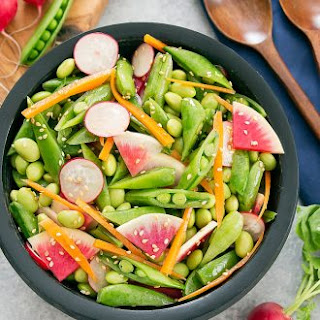 Edamame Snap Pea Salad with Sesame Dressing.