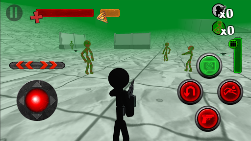 Stickman Contre Zombie 3D  captures d'écran 1