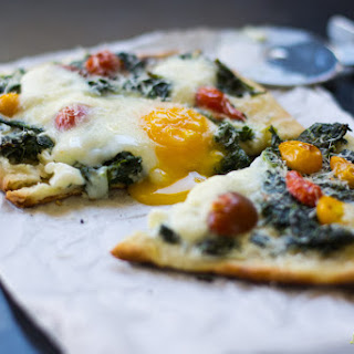 Kale and Egg Breakfast Pizza.