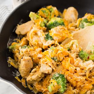 Chicken and Broccoli Butternut Squash Pasta.