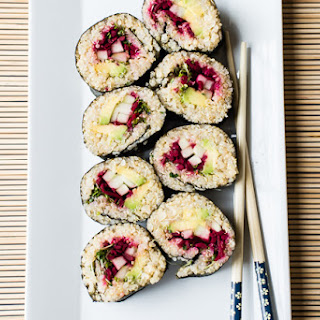 Quinoa Sushi Rolls with Miso-Sesame Dipping Sauce Recipe