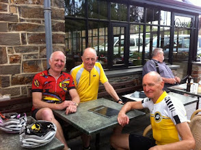 Photo: l.to.r Steve from Portland USA, Ken 74 and an allday in the saddle man and Dave who is as fast as he looks!