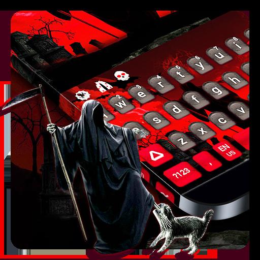 Black Grim Reaper Keyboard