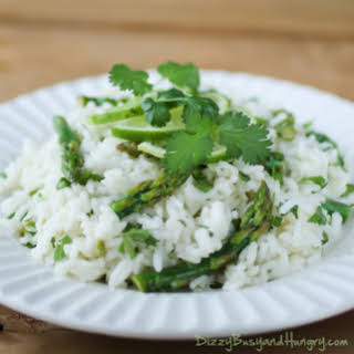 Cilantro Lime Asparagus and Rice.